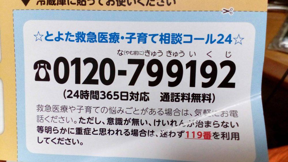 2018~2019 豊田市の年末年始救急診療の紹介 とよた急病・子育て育救コール24や豊田地域医療センターなど